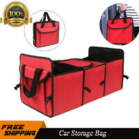 Car Foldable Multi Collapsible Cargo Organizer Box Bag with Cooler Storage Trunk