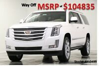 2019 Cadillac Escalade MSRP$104835 ESV Platinum 4X4 Crystal White New Platinum Heated Cooled Leather Sunroof Camera Navigation 4WD 6.2L 18 2018 19
