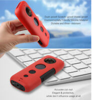 Shockproof Protective Silicone Case Cover For Insta360 One X Camera Black/Red