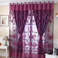 Luxurious Jacquard Window Curtains Burnout Tulle for Home Living Room Bedroom