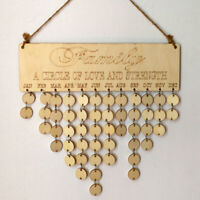Household Goods Wood Decor Birch Ply Plaque Sign Special Dates Calendar Gift