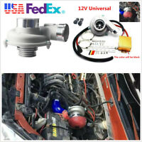US Stock Car Truck Electric Fuel Saver Turbo Supercharger Kit Air Filter Intake