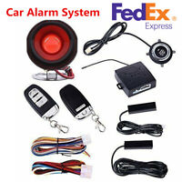 PKE-Passive Keyless Entry Car Alarm System Engine Start Push Button Remote Kit