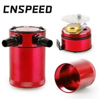 Red Aluminum Car Oil Catch Tank Breather Can Cylinder Engine Reservoir Baffled