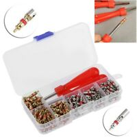242PCS R134A Car A/C Air Conditioning Valve Core Assortment with Remover Tool