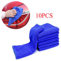 Microfiber Blue Car Detailing Soft Cloth Towel Duster Cleaning Accessories 10Pcs