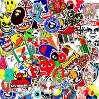 Stickers 200 Skateboard Vinyl Car Laptop Luggage Decals Dope Sticker Kids Random