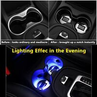1pcs LED Cup Pad Mat Lighting Accessories Lights Cadillac Car Vehicle Lamp Parts