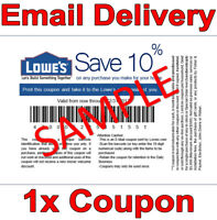 1𝚇 Lowes 10% OFF INSTANT DELIVERY DISCOUNT-1COUPON INSTORE ONLY 𝐄𝐗𝐏 𝟏/𝟐𝟔