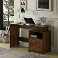 Home Office Computer Desk Laptop PC Study Table With 2 Drawers Furniture Wooden