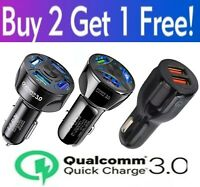 4 Port 2 Port USB QC 3.0 Fast Car Charger for Cell Phone Samsung iPhone Android