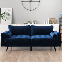 Blue Sofa/Couch Living Room Modern Style 2 Seat Furniture New Indoor