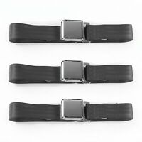 AMC AMX 1967 - 1974 Airplane 2pt Charcoal Lap Bucket Seat Belt Kit - 2 Belts