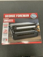 GEORGE FOREMAN Contact Smokeless Ready Grill Kitchen Family Size Stainless Steel