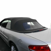 Chrysler Sebring Convertible Top Replacement With Plastic Window 1996-2006 Black