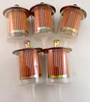 5 FUEL FILTERS  INDUSTRIAL HIGH PERFORMANCE UNIVERSAL INLINE GAS FUEL LINE  3/8