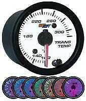 GlowShift White 7 Color Transmission Temperature Gauge 80-270