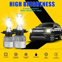 1850W 277500LM H4 HB2 9003 6000K White CREE LED Headlight Hi/Lo Powe