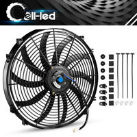 New 1X16''inch Push Electric Cooling Radiator Fan Engien Reversible Kits 3000cfm