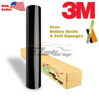 *Genuine 3M Gloss Black Vinyl Wrap Car Sticker Film Decal Bubble Free