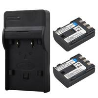 2x NB-2LH Battery + Charger For Canon PowerShot S30 S50 S80 EOS 350D MV940 MV901