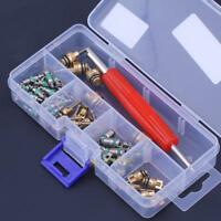 50pcs R134A A/C Car Automotive Air Conditioning Valve Cores w/ Removal Tools Kit
