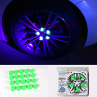 19mm Car Accessories Exterior Wheel Rim Lug Nut Covers Glow in the Dark Green