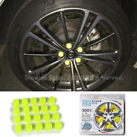 21mm Car Accessories Exterior Wheel Rim Lug Nut Covers Glow in the Dark YELLOW