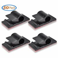 Cable Sleeves Clips Organizer Cord Management Clamps, Desktop Holder Hider, Self