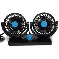 360° Rotates Portable Auto Air Conditioner Mini Car Dash Mounting Cooling 2 Fan