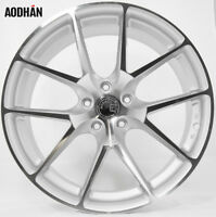 Aodhan LS007 19x9.5 +35 5x112 Silver Machined Concave Wheels (Set of 4)