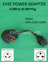 Sale! EVSE Adapter Electric Vehicle Car Charger 240V, 6-20R to 10-30P dryer Plug