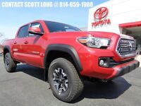2018 Toyota Tacoma New 2018 Double Cab 4x4 3.5L 4WD TRD Off Road Red New 2018 Tacoma Double Cab 4x4 TRD Off Road 6 Speed Manual Navigation 4WD Stick