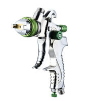 Car Paint Air Spray Gun Kit Gravity Feed Primer 1.4MM~2.0MM Nozzle Silver Green