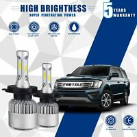 CREE COB H4 HB2 9003 1950W 292500LM LED Headlight Kit Hi/Lo Power Bulbs 6000K