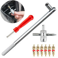 US Valve Stem Installer HD Chrome Tool Puller Car Tire Plug Core Remover Repair