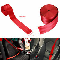 Seat Belt Webbing Polyester Seat Lap Retractable Nylon Safety Strap DIY 3.6M Red