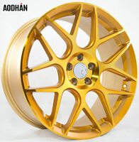 18X8 AodHan LS002 5X100 ET35 Gold Machined Face Wheels (Set of 4)