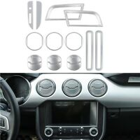 Silver Car Accessories Decoration Central Door Dash Vent Cover For Ford Mustang