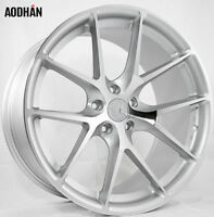 AodHan LS007 20x9 +30 +35 5X112 Silver Machined Non-Staggered Wheels (Set of 4)