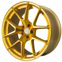 20x9 AODHAN LS007 5x120 +30 Gold Machined Face Wheels (Set of 4)