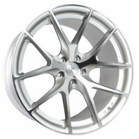 20x10.5 AODHAN LS007 5x120 +35 Silver Machined Face Wheels (Set of 4)