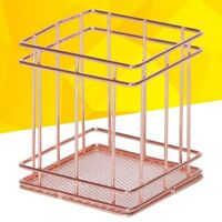 Wire Metal Basket Desktop Stationery Pencil Holder Organizer for School Home Use