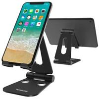(2 in 1) Tecboss Tablet Stand, Multi-Angle Adjustable Desktop Cell Phone Stand 2