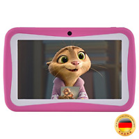Kinder Tablet 7 Zoll, Android 7.1 OS, iWawa Pre-Installed, Quad Co(Rosa)
