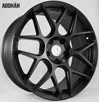 18X8 AodHan LS02 Rims 5X114.3 +15 Black Wheels (Set of 4)