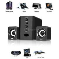 Computer Speakers USB PC Laptop Desktop System with Stereo Bass Subwoofer M9V0