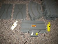 USED 1:32 SCALE REVELL 1964 SLOT CAR TRACK SECTIONS - 33 SECTIONS INCLUDED!