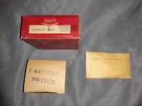 1956 Packard Push Button Transmission Relay, Pressure Switch, and Segment, NOS