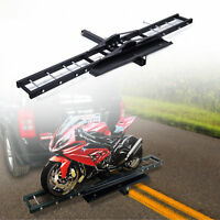 Trailer Hitch Motorcycle Carrier Rack Hauler w/ Loading Ramp pap